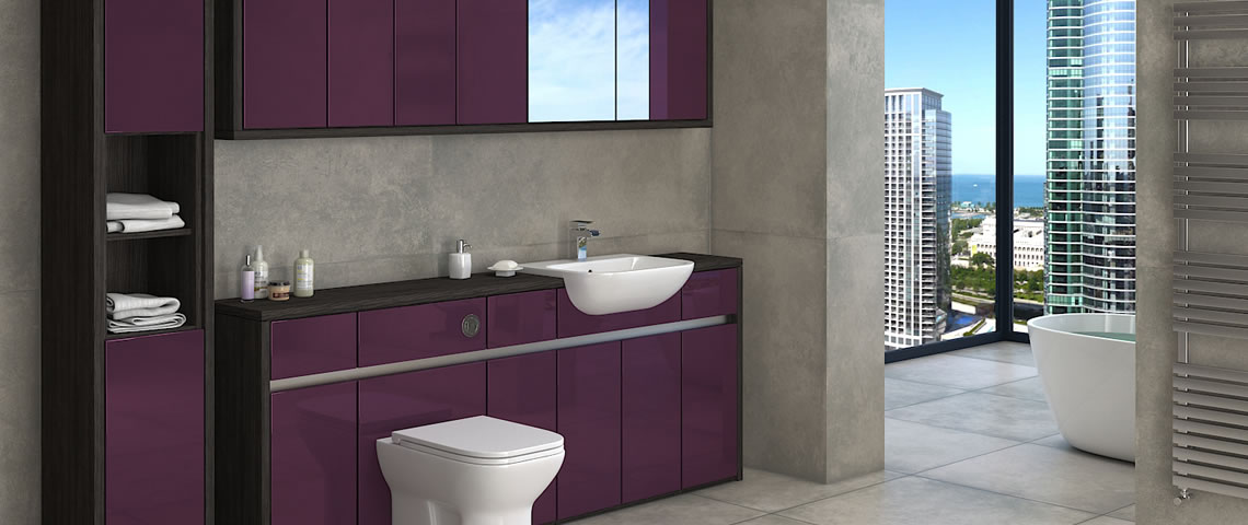 Wall Grey bathroom tiles